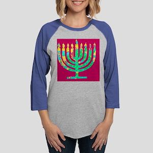 Menorah Hanukkah Kibbitzing 4S Long Sleeve T-Shirt