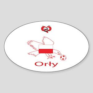 "Whooligan Poland ""Eagles"" Oval Sticker"