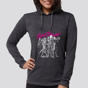 Avengers Infinity War Girl Pow Womens Hooded Shirt
