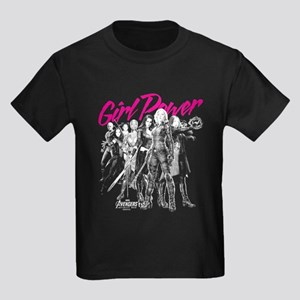 Avengers Infinity War Girl Power Kids Dark T-Shirt