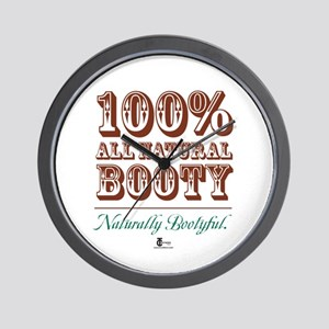 100% All Natural Booty -- Nat Wall Clock