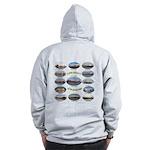 1,000 Footers On The Great Lakes Zip Sweatshirt