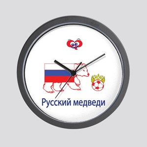 "Whooligan Russia ""Bears"" Wall Clock"