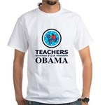 Teachers for Obama White T-Shirt