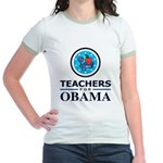 Teachers for Obama Jr. Ringer T-Shirt