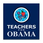 Teachers for Obama Tile Coaster