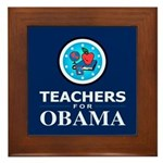 Teachers for Obama Framed Tile