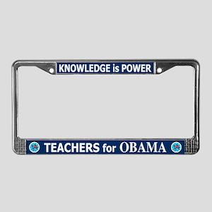 Teachers for Obama License Plate Frame