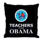 Teachers for Obama Throw Pillow