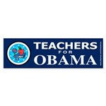Teachers for Obama Bumper Sticker (10 pk)