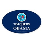 Teachers for Obama Oval Sticker (10 pk)