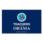 Teachers for Obama Rectangle Sticker 10 pk)