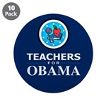 "Teachers for Obama 3.5"" Button (10 pack)"