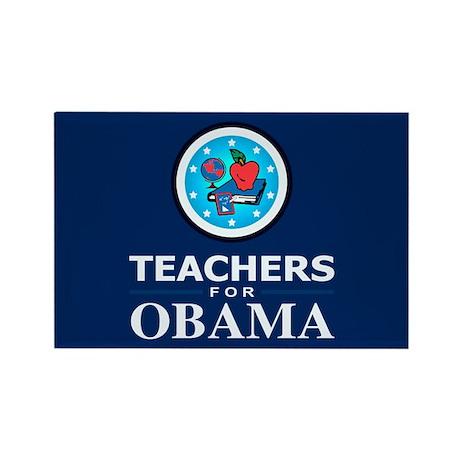 Teachers for Obama Rectangle Magnet