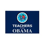 Teachers for Obama Rectangle Magnet
