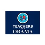 Teachers for Obama Rectangle Magnet (100 pack)