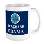 Teachers for Obama Dark Large Mug