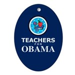 Teachers for Obama Oval Ornament