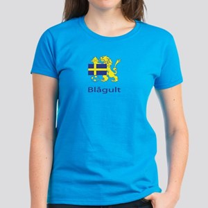 "Whooligan Sweden ""Blue-Yellows"" Women's Dark T-Shi"