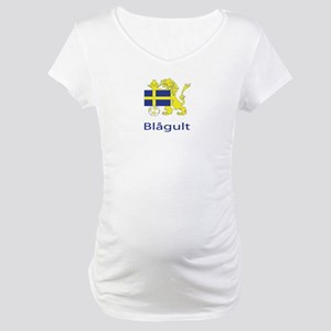 "Whooligan Sweden ""Blue-Yellows"" Maternity T-Shirt"