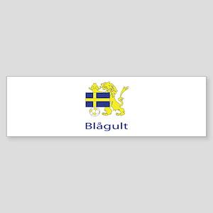 """Whooligan Sweden """"Blue-Yellows"""" Bumper Sticker"""