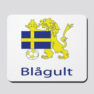 """Whooligan Sweden """"Blue-Yellows"""" Mousepad"""