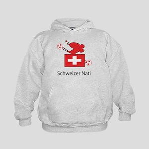 """Whooligan Switzerland """"Schweizer Nati"""" Kids Hoodie"""