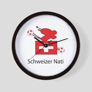 "Whooligan Switzerland ""Schweizer Nati"" Wall Clock"