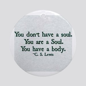 Soul and Body Round Ornament