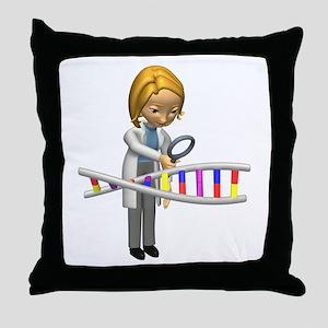 DNA Scientist Throw Pillow