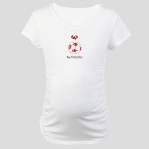"""Whooligan Turkey """"Crescent Stars"""" Maternity T-Shir"""