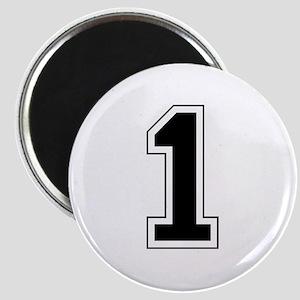 Varsity Font Number 1 Black Magnet