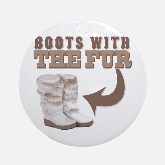 Boots With The Fur Ornament (Round)