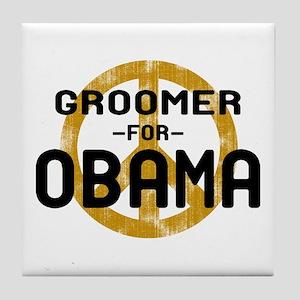 Groomer for Obama Tile Coaster