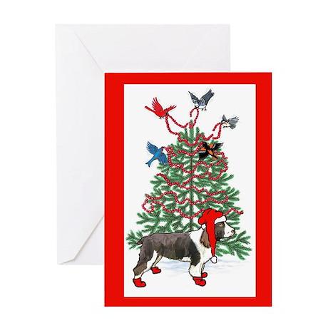 Springer spaniel christmas Greeting Card