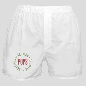 Pops Man Myth Legend Boxer Shorts