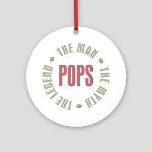 Pops Man Myth Legend Ornament (Round)