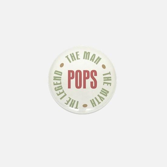 Pops Man Myth Legend Mini Button