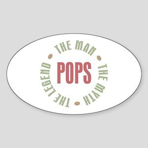 Pops Man Myth Legend Oval Sticker