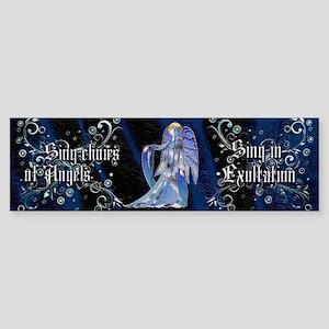 Harvest Moons Art Nouveau Angel Bumper Sticker