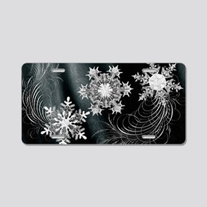 Harvest Moons Crystal Flakes Aluminum License Plat