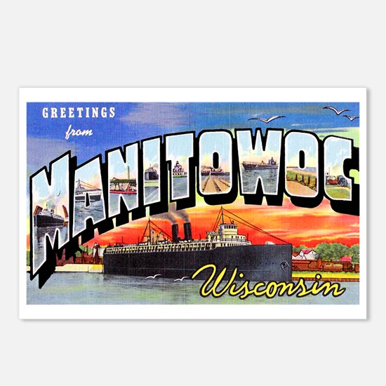 Manitowoc Wisconsin Greetings Postcards (Package o