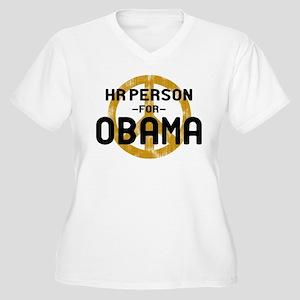HR Person for Obama Women's Plus Size V-Neck T-Shi