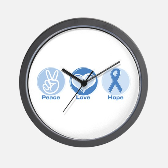 Peace LtBl Hope Wall Clock