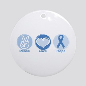Peace LtBl Hope Ornament (Round)
