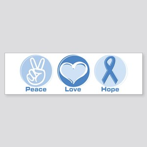 Peace LtBl Hope Sticker (Bumper)