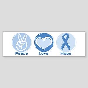 Peace LtBl Hope Sticker (Bumper)