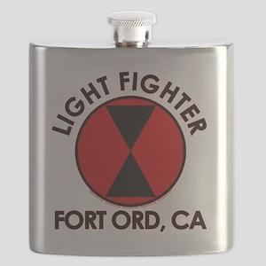 Lightfighter Fort Ord, CA 7th Infantry Divis Flask