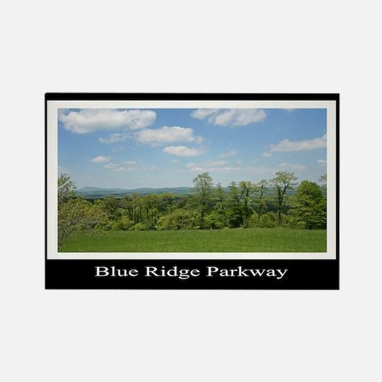 Blue Ridge Parkway Mountains Rectangle Magnet