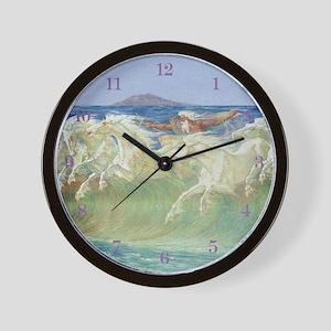NEPTUNE'S HORSES Wall Clock